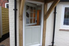 Bespoke Sapele stable door. Made using a hardwood & painted