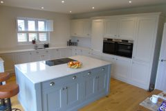 Bespoke oak painted Shaker style kitchen 2021