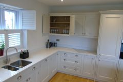 Bespoke kitchen with solid oak shelves & drawers