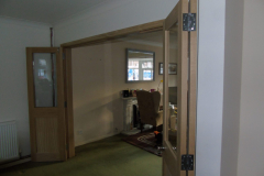 Internal bifold room dividing doors