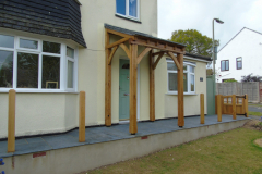 Green oak porch & gate