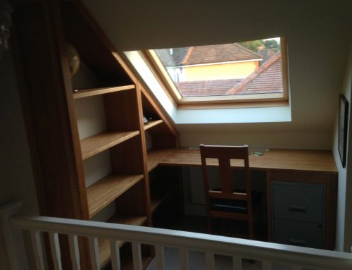 Handmade Desk and Shelves, Hampshire